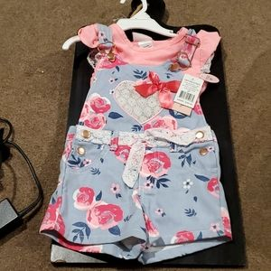 Toddler girl, 2T, 2 piece romper set